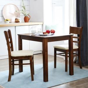 하이그로시 2인식탁세트(의자포함)/대리석/원목식탁
