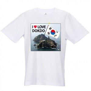 독도는 우리땅/독도 라운드 T-셔츠/커플티셔츠/단체티
