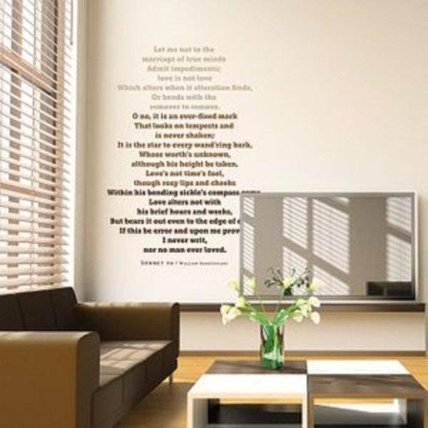 Sonnet 116 레터링 스티커 인테리어소품 벽장식스티커
