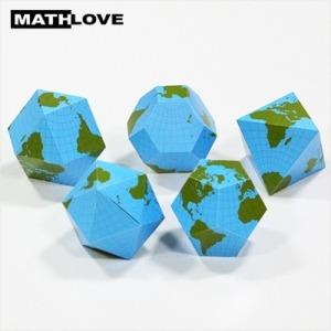 (수학사랑)다면체위의 세계지도 5종 10세트(50인용)