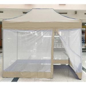 프리폼 캐노피천막 4면베이지모기장 2x2 일체형모기장