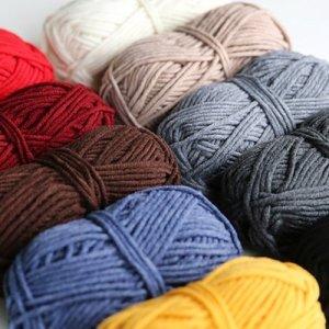 이지베틀 울60 털실(18color)  - 카키