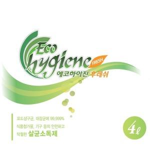 에코하이진 후레쉬 3.8L/휴엔케어 무선플루건 살균제
