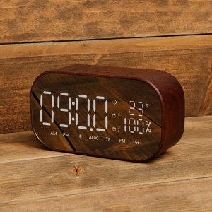 알람 시계 라디오 우드 블루투스스피커 SNP-W8 월넛