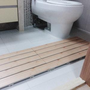 원목무늬 대형발판 1+1 욕실발판/현관/베란다/화장실