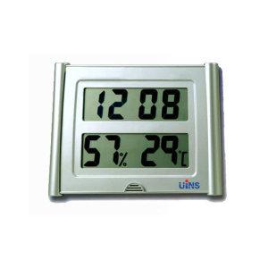 UINS 대형 전자 온습도계 ET-31 시계기능겸용 디지털