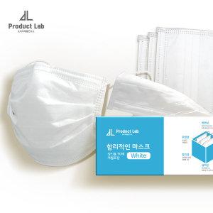 합리적인마스크 4중필터 일회용마스크 대형 흰색 50매