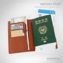 미토도 천연가죽 여권케이스/RFID차단/여행용가방 각인