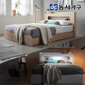 할인행사 토미 LED 3서랍 SS/Q침대-매트포함
