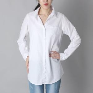 여성흰색셔츠 여자 남방 화이트 무지 솔리드
