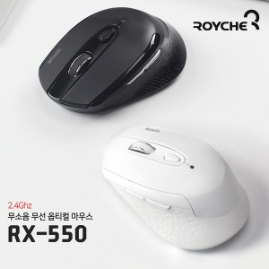 무선 무소음 옵티컬 마우스 RX-550 화이트 / 2.4Ghz /