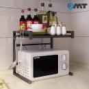 OMT 2단 다용도 주방 수납선반 렌지대 테이블 OKA-ZM2