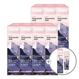 2080 퓨어 마운틴 솔트 치약 핑크 120g 7+1개 - 상품 이미지