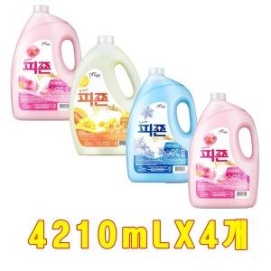 피죤 섬유유연제 용기형 4210ml X 4개/리필/세탁세제