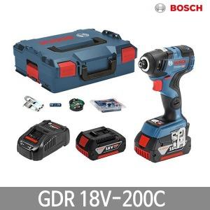 보쉬 GDR18V-200C 충전임팩 드라이버 6.0Ah 배터리2개