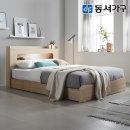 토미 LED 수납 Q 퀸 침대+양면매트 DF638370