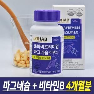 프리미엄 마그네슘 4개월분 비타민B 영양제 눈떨림