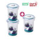셰프웨어 2+1 BPA Free 클리어 원형 630ml