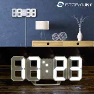 벽 탁상 시계 벽걸이 LED 전자 알람 타임캡슐 미니