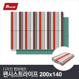 디자인 캠핑매트 팬시스트라이프 (200x140cm)  방수매트/피크닉매트/돗자리/야외매트/등산매트