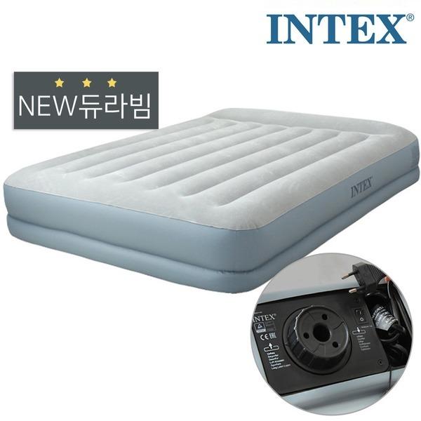 INTEX 에어매트 듀라빔 스탠다드 (내장형 전동펌프)_퀸
