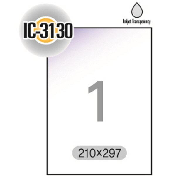 잉크젯 투명라벨(IC-3130/5매/1칸/폼텍)
