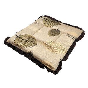 낙엽프릴방석 브라운 50x50cm 영업용 식당용