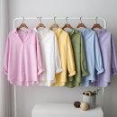 봄신상 롤업 기본 베이직 기본 남방 셔츠 여성 면