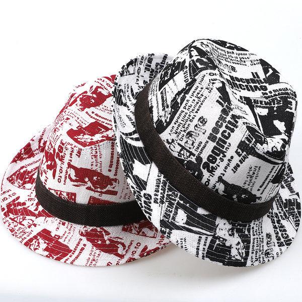 레터링 중절모 남자 여름모자 패션 페도라 모자 Fedora