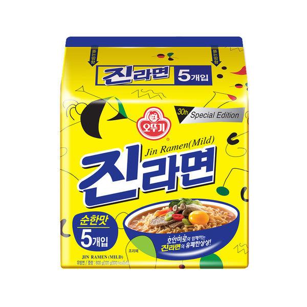 진라면 순한맛 멀티팩 5+1 4팩(총 24봉)