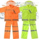 고급안전우비 작업우의 산업현장비옷 형광우비