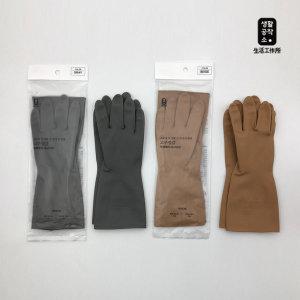생활공작소 고무장갑 3입 (그레이 베이지) M사이즈
