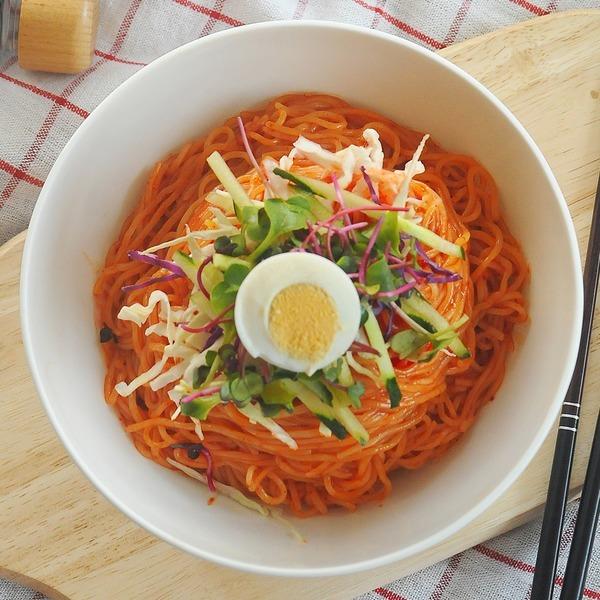 쫄면10인분세트 냉동쫄면2kg+쫄면장500g+비빔장5봉증정