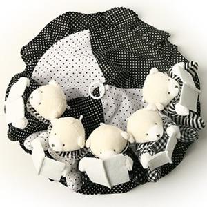 흑백모빌 신생아 아기 장난감 출산선물 모빌대 오르골