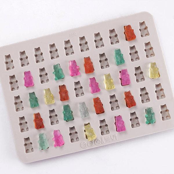 리얼 꼬마곰 젤리 50구 석고방향제 몰드 (요리 겸용)