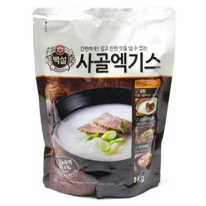 백설 사골엑기스 1kg 12개 /무료배송