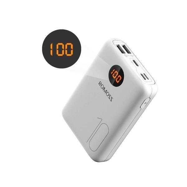 로모스 OM10 5V 더블 USB 포트 10000mAh 보조 배터리