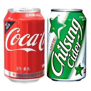 코카콜라 웰치스 펩시 355mlx24 뚱캔 탄산 음료수