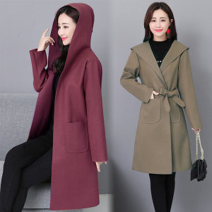 봄신상 여성 코트 롱 후드 여자 가디건 자켓 가을 봄