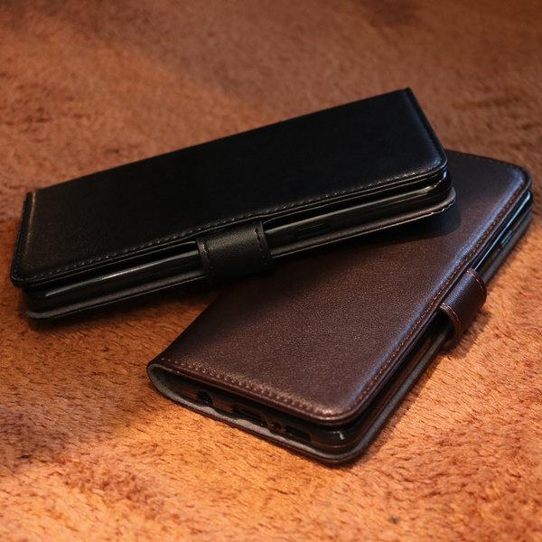 수제 소 가죽 카드 지갑 다이어리 커버 케이스 갤럭시 노트9 노트8 S10 s10e S9 S8 플러스