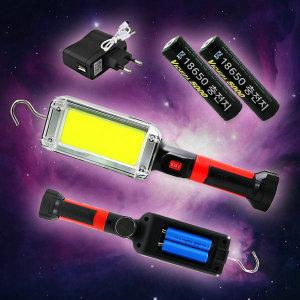빅사이즈 LED 충전식 집게 자석 작업등 충전지 분리형