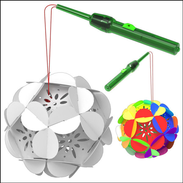 LED 무지개 꽃등 만들기