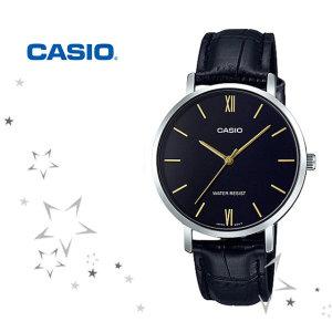 카시오 LTP-VT01L-1B 여성 가죽 시계 CASIO
