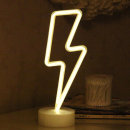 LED 네온사인 스탠드 무드등 (번개) 감성조명 카페