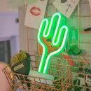 LED 네온사인 스탠드 무드등 (선인장) 감성조명 카페