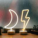 LED 네온사인 스탠드 무드등 (달화이트)감성조명 카페