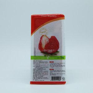 냉동 가당 딸기 슬라이스 1kg