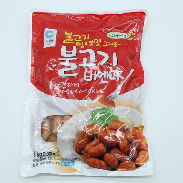청정원 불고기 비엔나 골드 소시지 1kg