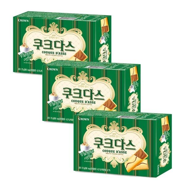 쿠크다스 비엔나 커피 72g 9봉 3박스
