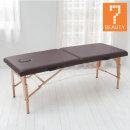 경량 접이식 목제 마사지 침대 브라운/휴대용/경락